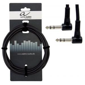 Alpha audio 190370 Basic Line Câble Patch 0,3 m 6,3 mm Jack coudé stéréo Noir
