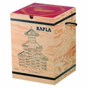 Kapla Malette 280 planchettes naturel + livre d'art rouge n°1