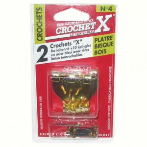 Crochet x Crochet n°0 - lot de 12 - Crochet pour tableau