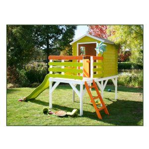 Soulet Cabane de jardin enfant en bois avec terrase et pilotis - ALICE