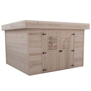 Habrita Abri de jardin bois toit plat avec bac acier 5.56 m²