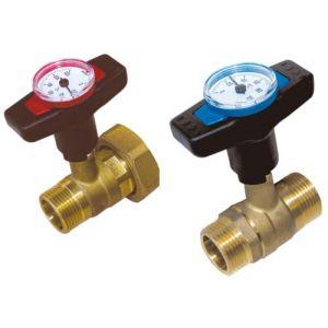 Thermador Vanne thermomètre intégré poignée rouge clapet antithermosiphon -