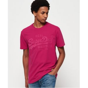 Superdry T-shirt ajusté avec logo appliqué Vintage - Couleur Rose - Taille L