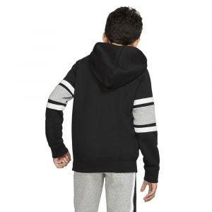 Nike B NK AIR Hoodie FZ Sweat-Shirt Garçon, Black/DK Grey Heather White, FR : S (Taille Fabricant : S)