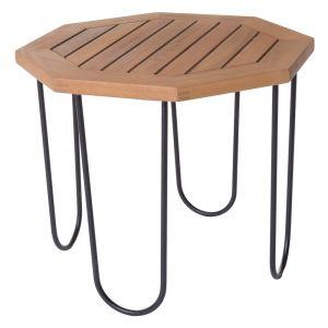 Lynco Table basse de jardin hexagonale acacia - Salma
