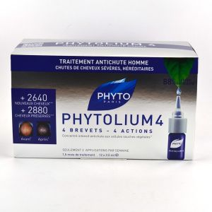 Phyto Paris Phytolium 4 Traitement Anti-Chute Stimulateur Croissance 12 x 3.5 ml