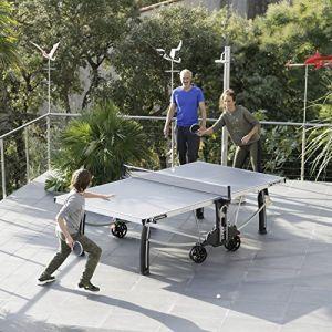 CORNILLEAU Table ping pong extérieur Performance 500 M - 274 x 152 x 76 cm - Bleu