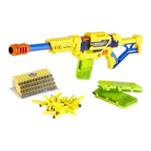 X-Shot Clip blaster : Fusil avec fléchettes en mousse 100 pièces