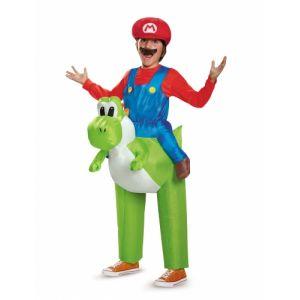 Déguisement gonflable Mario sur Yoshi Nintendo enfants TU
