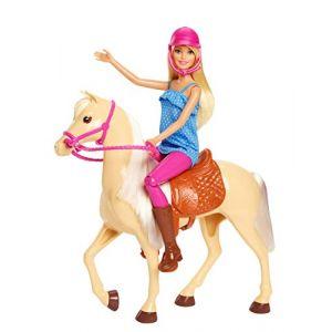 Mattel Poupée Barbie - Barbie et son Cheval - FXH13