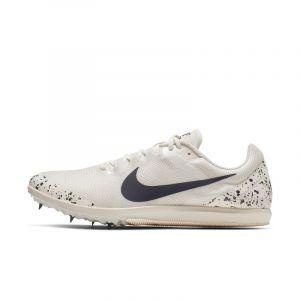 Nike Chaussure de courseà pointes mixte Zoom Rival D 10 - Crème - Couleur Crème - Taille 40.5
