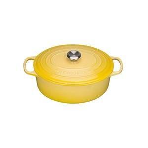 Le Creuset Cocotte Signature en fonte émaillée ovale 31 cm jaune Soleil