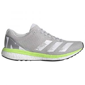 Adidas Adizero Boston 8 W, Chaussures de Running Compétition Femme, Grey One F17/FTWR White/Signal Green, 38 EU