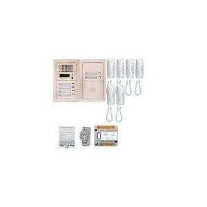 Aiphone GTA6E - Pack audio bus 6BP encastre avec module pour T25/VIGIK centrale 6 postes GT1D alim sans transfo gache (200304)