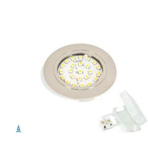 Emuca Spot LED Crux-in lumière blanc froid à encastrer en nickel satiné - 5915251