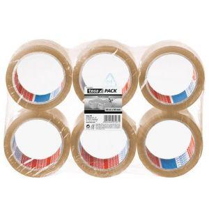 Tesa Emballer Standard Ruban d'emballage 66m x 50mm Transparent x 6