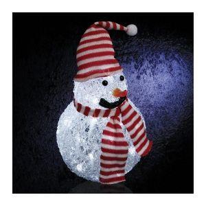 Fringant - Bonhomme de neige lumineux blanc froid 40 LED