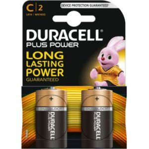 Duracell 2 piles C LR14 1.5V Plus Power