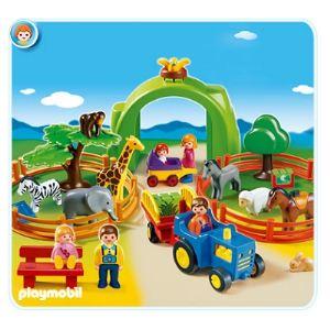 Playmobil 6754 - 1.2.3 : Coffret zoo