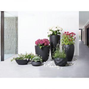 Beliani Cache-pot - Accessoir de jardin - 30x30x24 cm - Noir - Maggiore