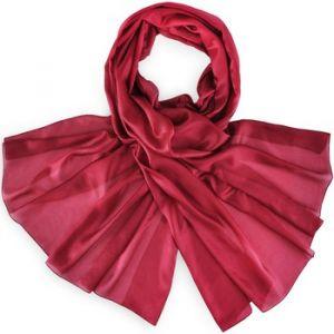 Allée du foulard Echarpe Etole soie bordeaux rouge - Taille Unique