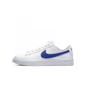 Nike Baskets cuir Blazer Low Blanc/Bleu - Taille 36;37 1/2;38;39
