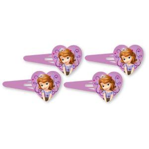 Amscan 4 barrettes à cheveux Princesse Sofia