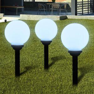 VidaXL 40864 - Boule solaire extérieure 20 cm 3 pièces