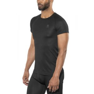 Odlo SUW Top Crew Neck s/s Active F-Dry Light Undershirt Homme, Black, FR (Taille Fabricant : XL)