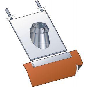 Poujoulat Solin pour tuile CONDENSOR , pente 15 à 30°, diamètre 130 mm Réf. SIT 30 130 SLCD / 45130170