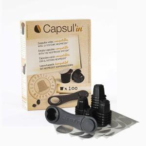 Capsul'in 100 capsules vides compatibles avec le système Nespresso
