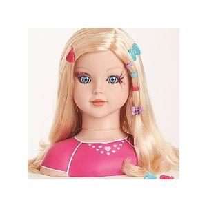 Dream Dazzlers Tête à coiffer blonde et 50 accessoires