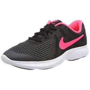 Nike Revolution 4 GS Fille, Multicolore (Black/Racer Pink-White 004), 38 EU
