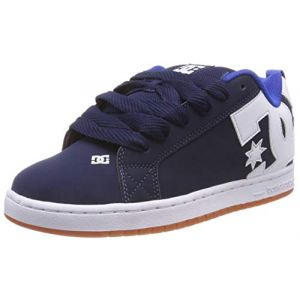 DC Shoes Court Graffik, Chaussures de Skateboard Homme, Bleu (Navy/Royal Nr6), 42 EU