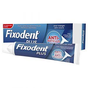Fixodent Plus anti-particules - Crème adhésive premium pour prothèses dentaires