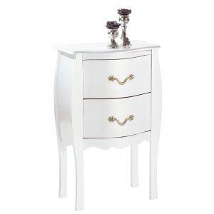 Miliboo Table de chevet baroque Louisa 2 tiroirs