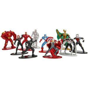 Jazwares Marvel Comics - Pack 10 Figurines Diecast Nano Metalfigs Wave 1 4 Cm