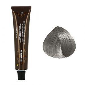 Kin Cosmetics Coloration permanente sans ammoniaque aux 5 huiles 9.21 : Blond Très Clair Irisé Cendré Sans ammoniaque, Crème 60ml