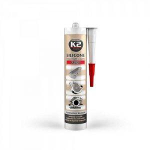 K2 Sports Haute température Mastic Silicone Dichtsi Likon, températures extrêmes à + 350 °C, Rouge, 300 g