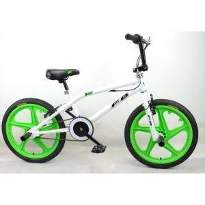 "Cycles Mercier Vélo BMX Freestyle 20"" 4 Pegs - Blanc et vert"