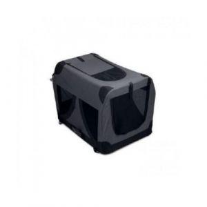 M pets MPETS Caisse de transport - Pour chien - S - Noir - Cette niche de transport pliable est facile de montage
