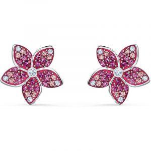 Swarovski BOUCLES D'OREILLES 5519254 - Boucles d'oreilles Argenté Fleur rose Strass Femme