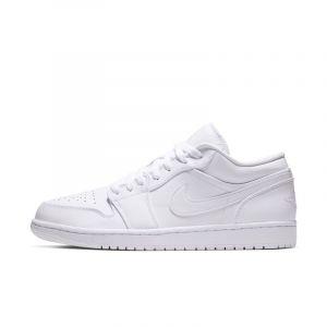 Nike Chaussure Air Jordan 1 Low pour Homme - Blanc - Couleur Blanc - Taille 44.5