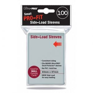 Ultra Pro Protèges Cartes - Sous Protection Pro-fit Side Load - Taille Small(par 100) Transparentes Souples