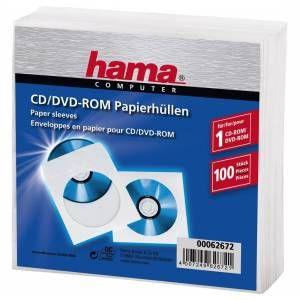 Hama Enveloppes Papier CD Rom (X100)