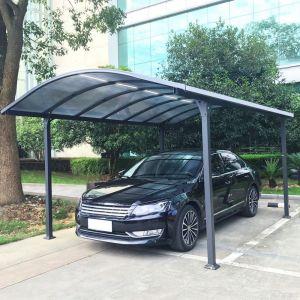 Couleurs du monde Carport aluminium avec éclairage autonome 18 m²