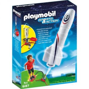 Playmobil 6187 Sports et Action - Fusée avec plateforme de lancement