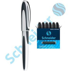 Schneider Electric Ray Stylo Roller à Cartouche avec Pointe en Acier Inoxydable, 1 Paquet de Cartouches d'encre Bleu, fabriqué en Allemagne