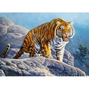 Castorland Puzzle Tiger on the Rock