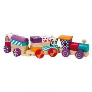 Okoia Train en bois 18 pièces